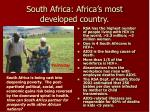 south africa africa s most developed country