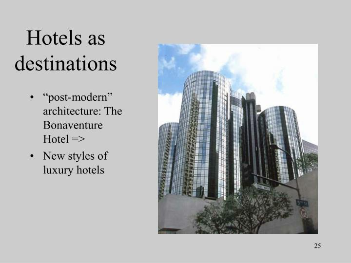 Hotels as destinations
