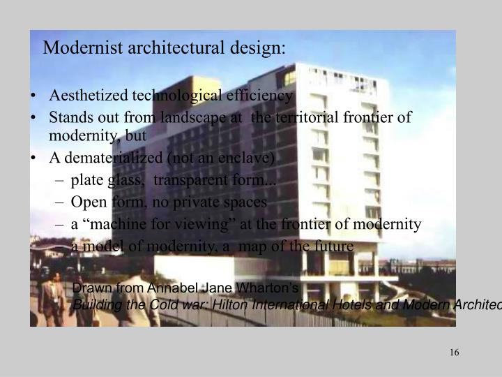 Modernist architectural design: