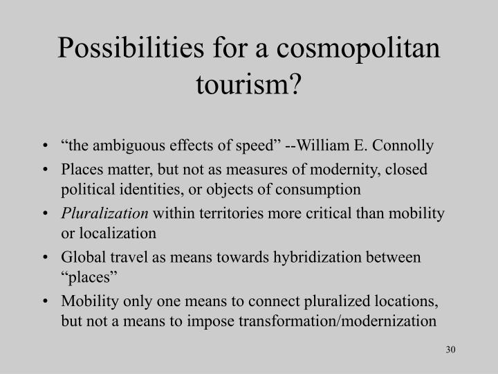 Possibilities for a cosmopolitan tourism?