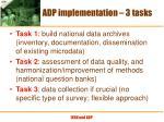 adp implementation 3 tasks