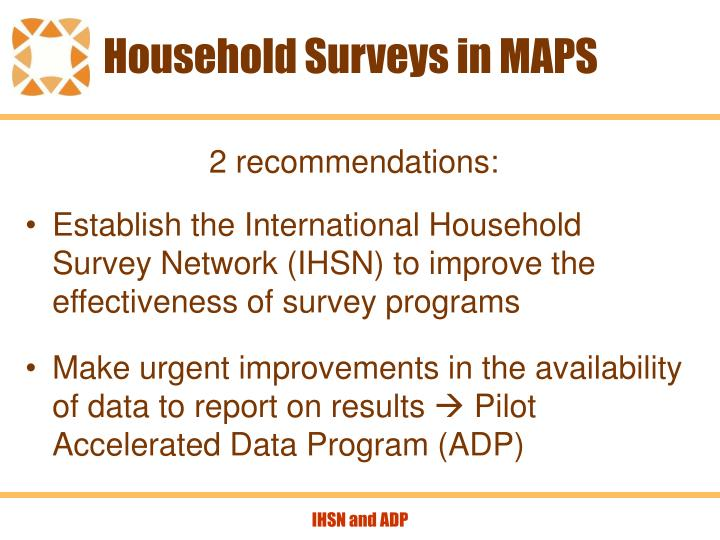 Household surveys in maps