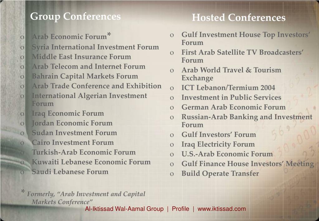 Arab Economic Forum