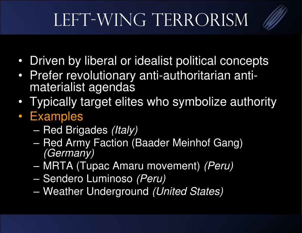 Left-Wing Terrorism