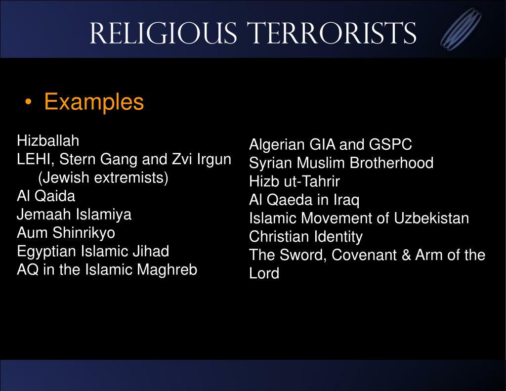 Religious Terrorists