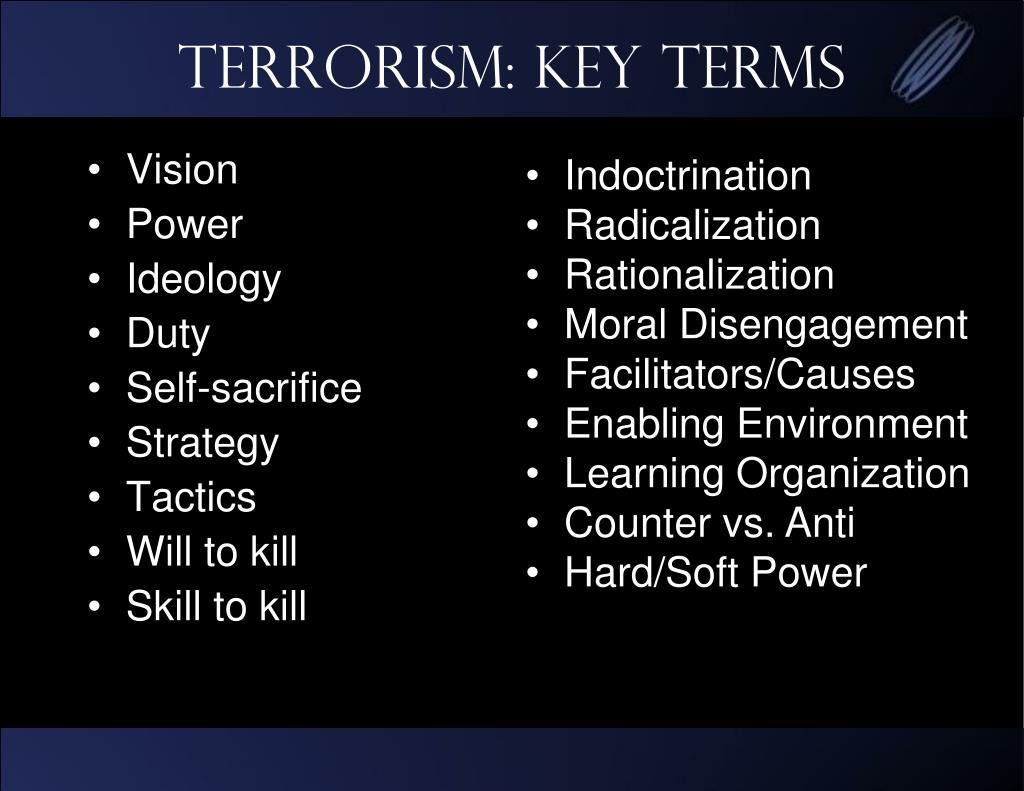 Terrorism: Key Terms