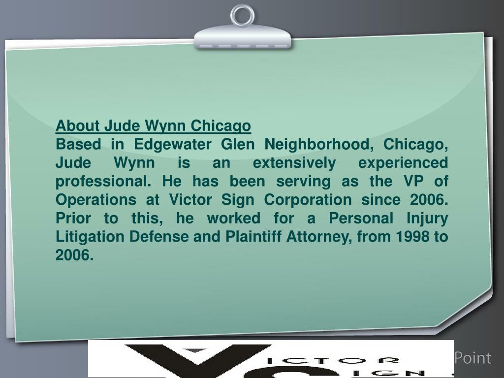 About Jude Wynn Chicago