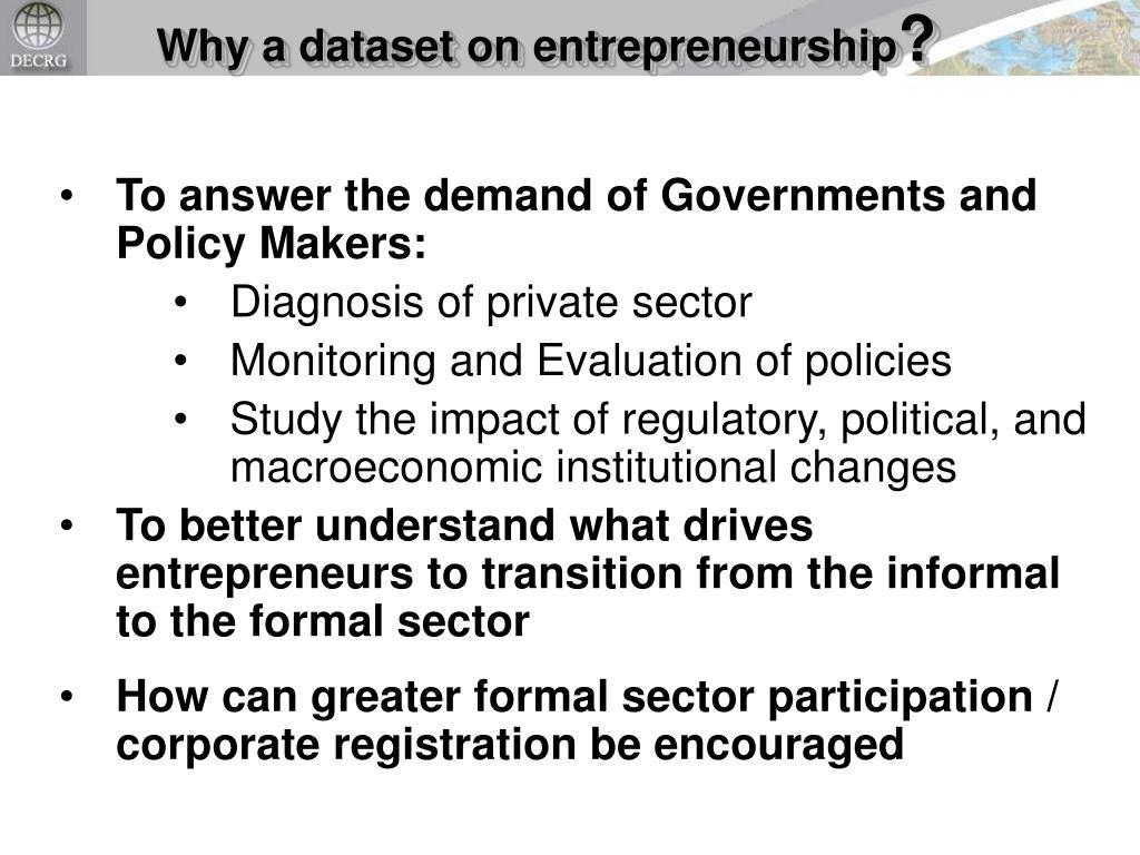 Why a dataset on entrepreneurship