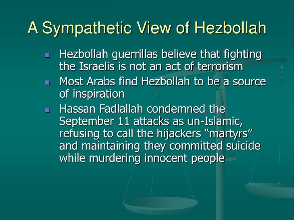 A Sympathetic View of Hezbollah