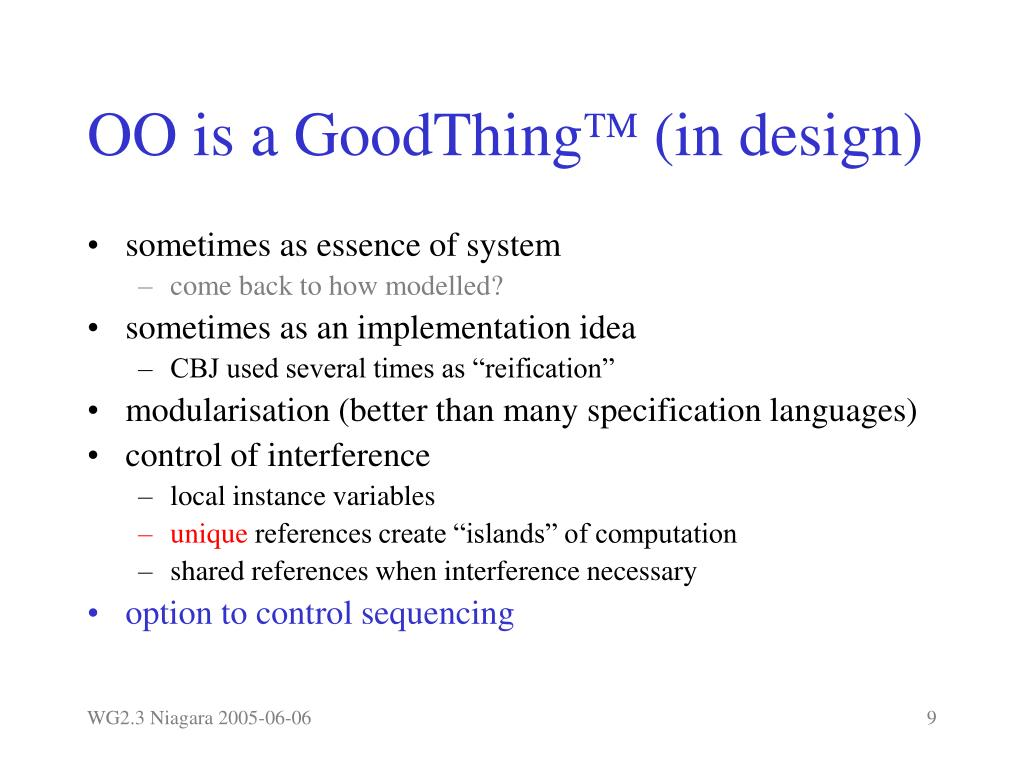 OO is a GoodThing