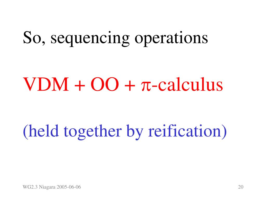 So, sequencing operations