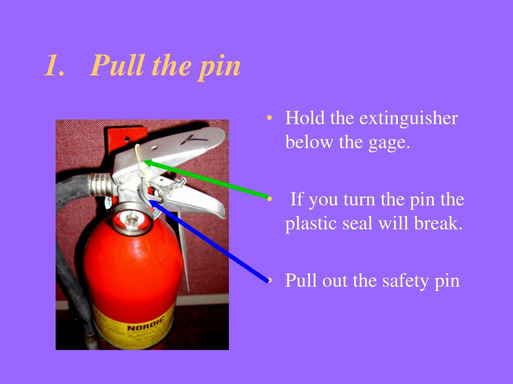 1.   Pull the pin