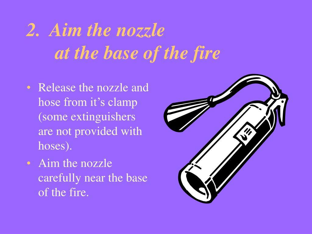 2.  Aim the nozzle