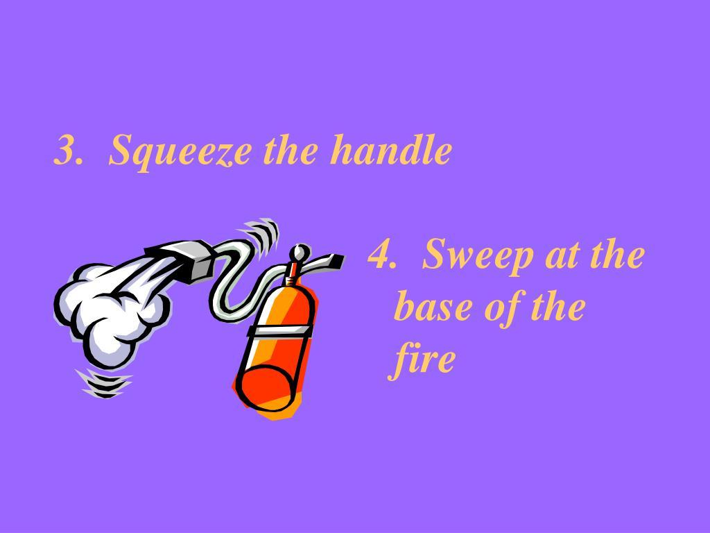 3.  Squeeze the handle