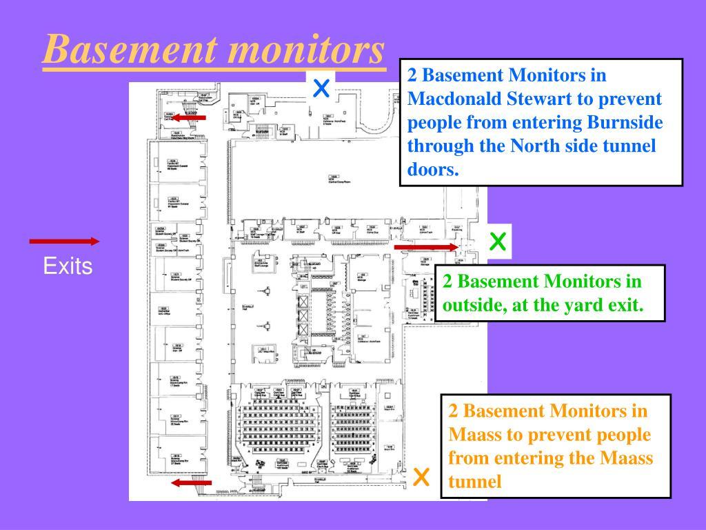Basement monitors