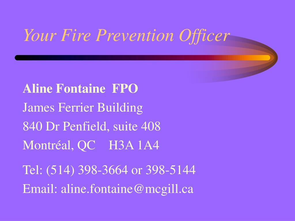 Your Fire Prevention Officer