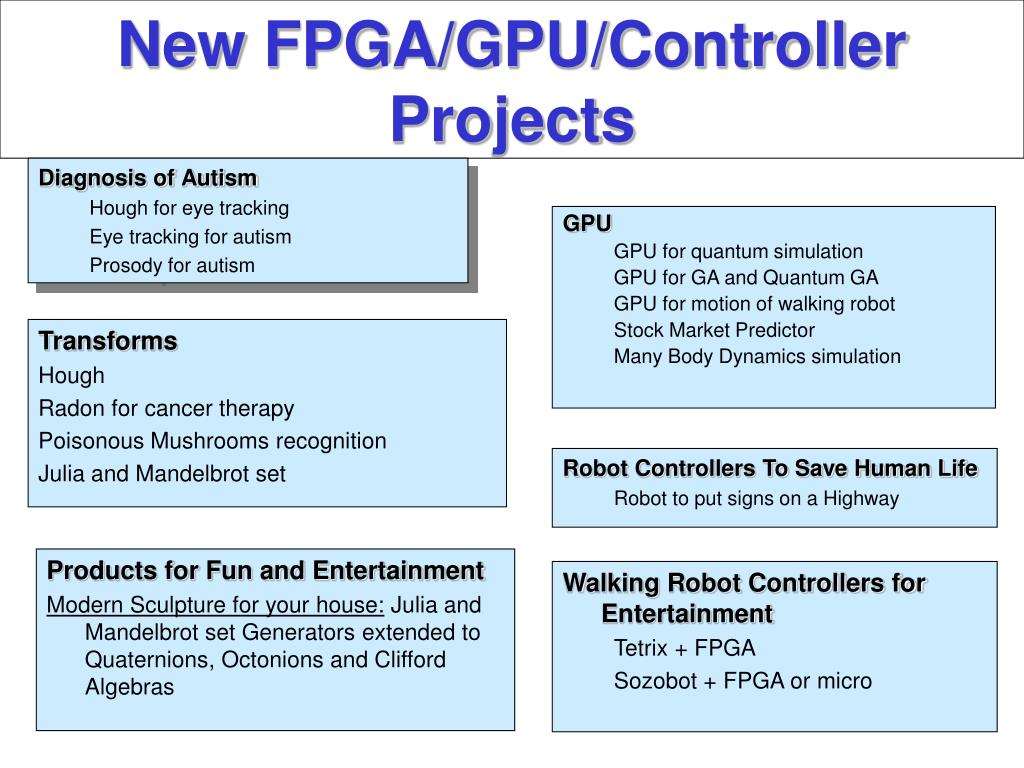 New FPGA/GPU/Controller Projects