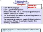 project number 5 lego nxt tetrix robot quincy chiu
