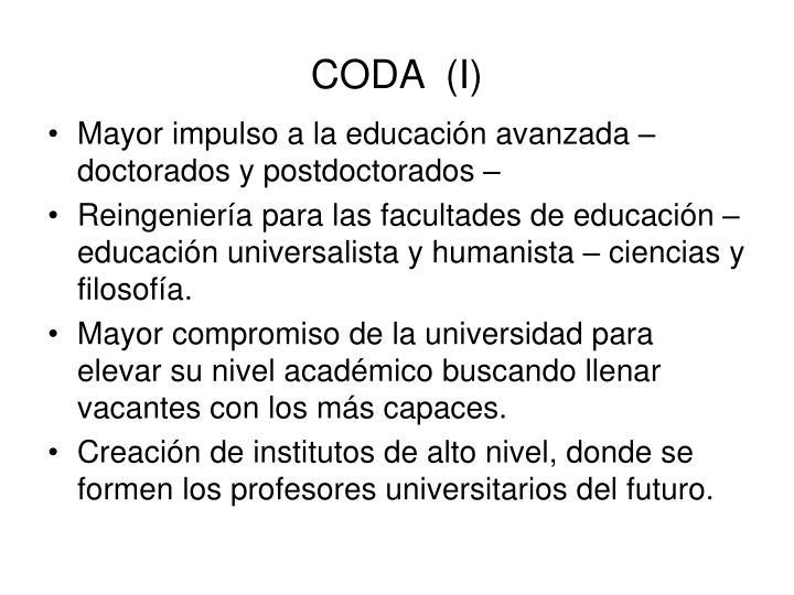 CODA  (I)