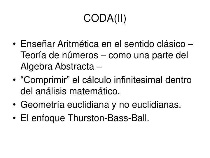 CODA(II)
