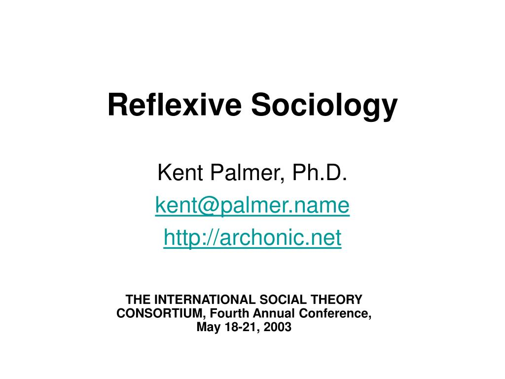 reflexive sociology