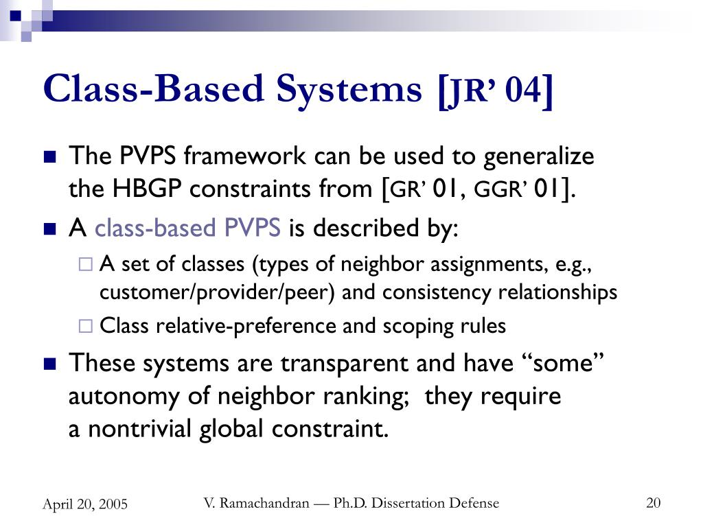 Class-Based Systems [