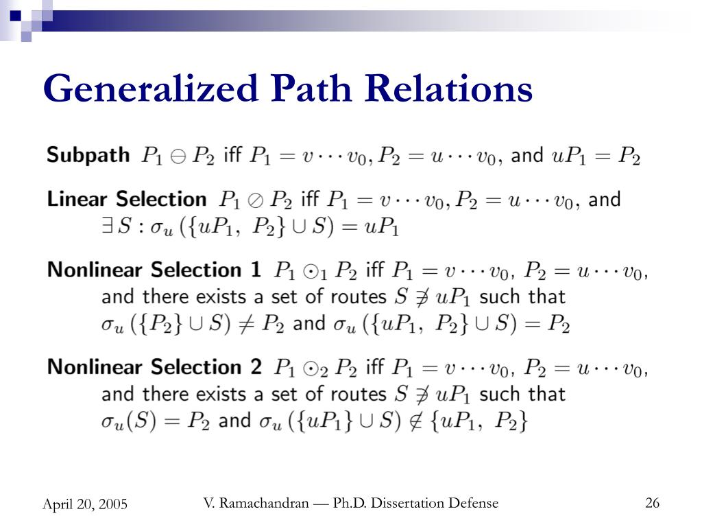 Generalized Path Relations