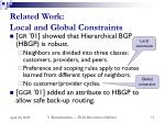 related work local and global constraints