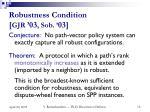 robustness condition gjr 03 sob 03