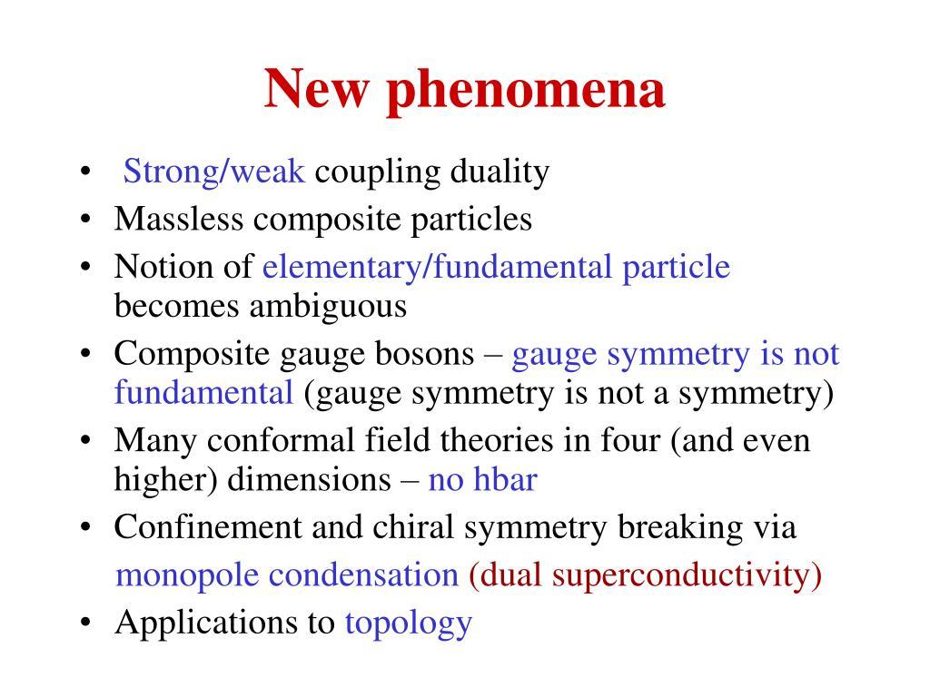 New phenomena