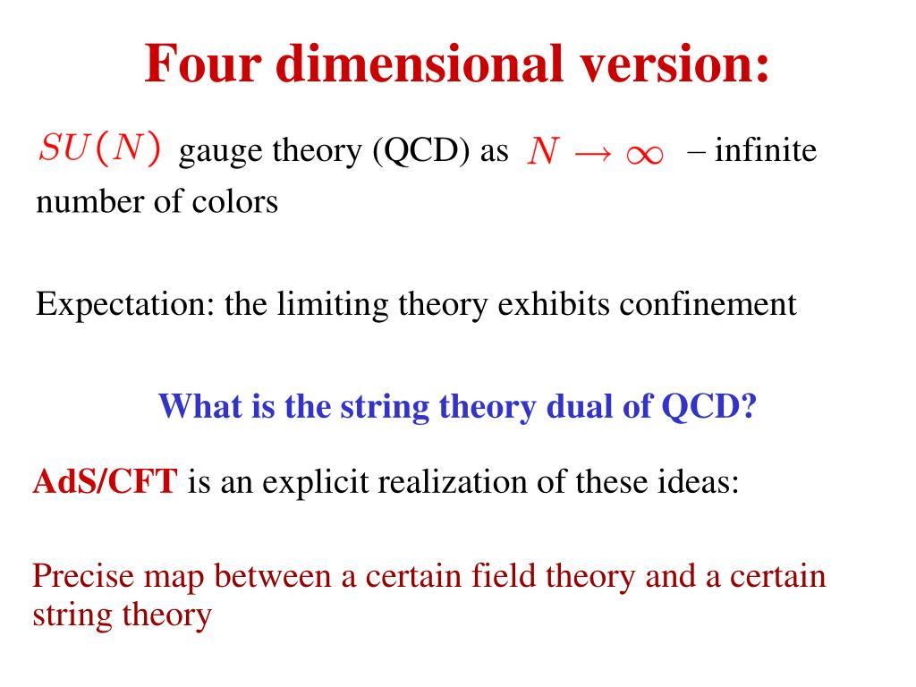 Four dimensional version: