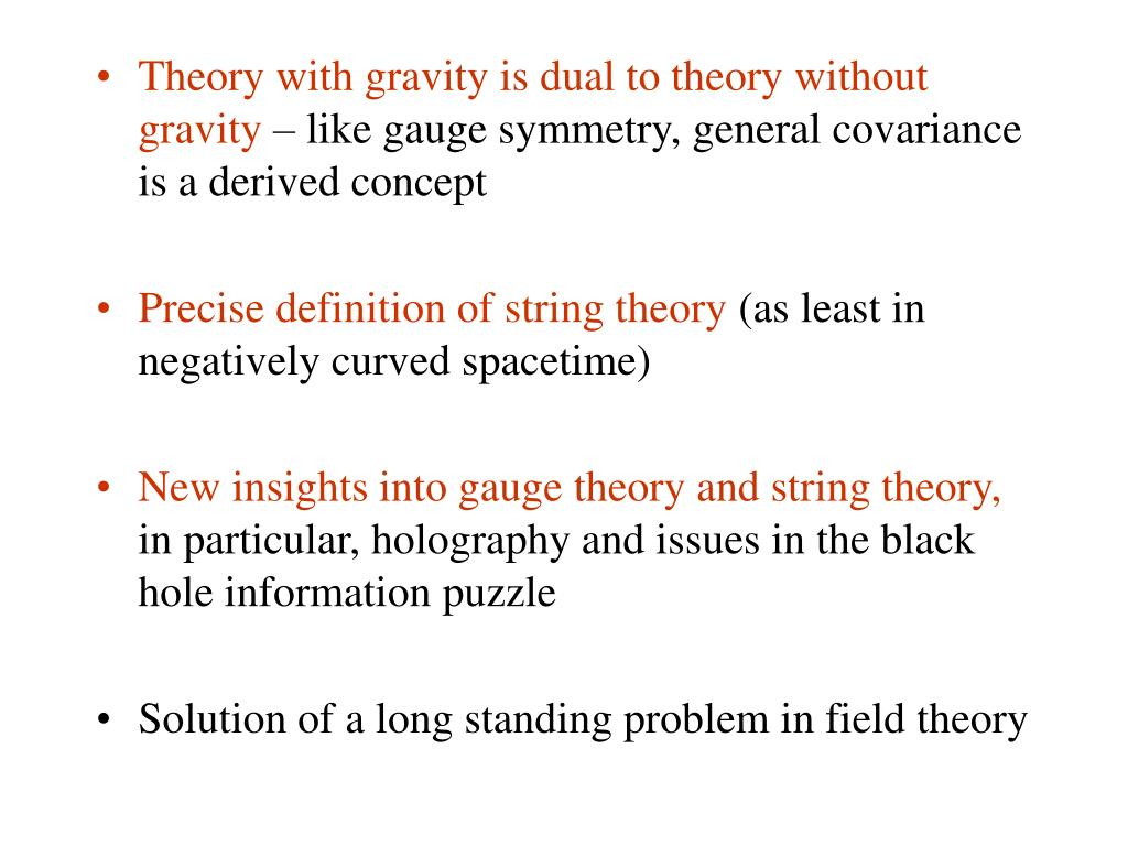 Theory with gravity is dual to theory without gravity