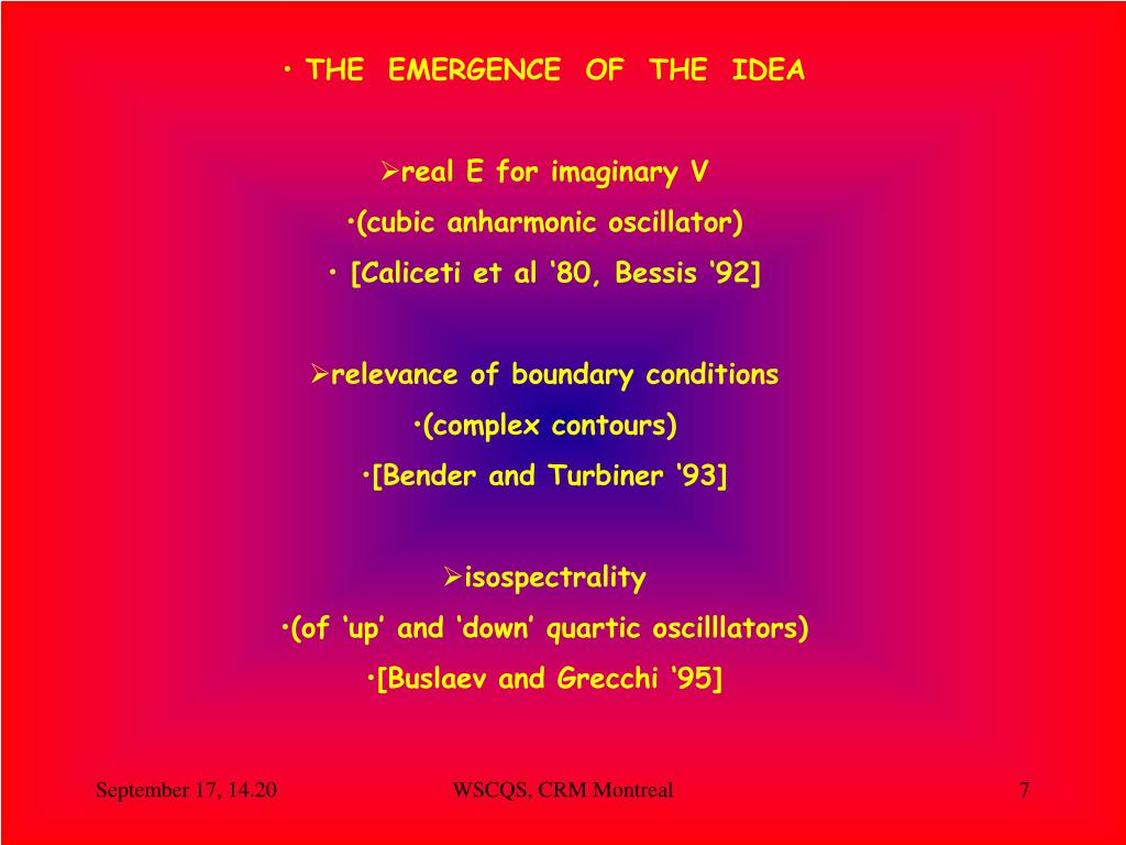 THE  EMERGENCE  OF  THE  IDEA