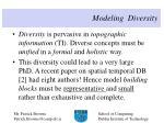 modeling diversity