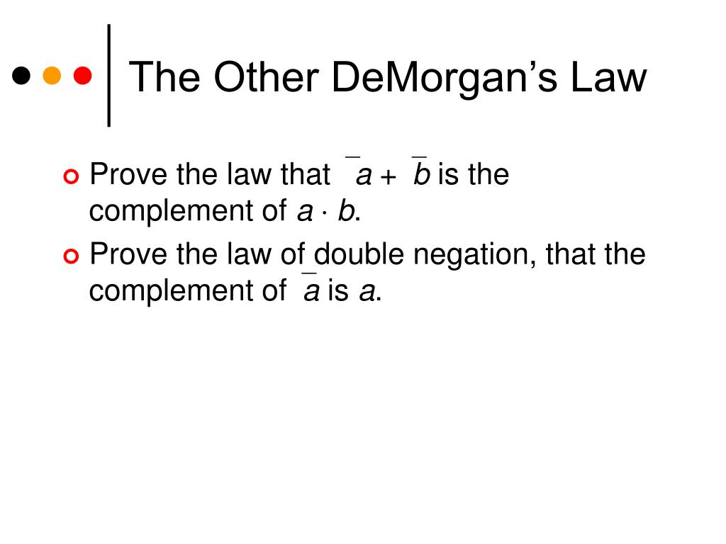 The Other DeMorgan's Law