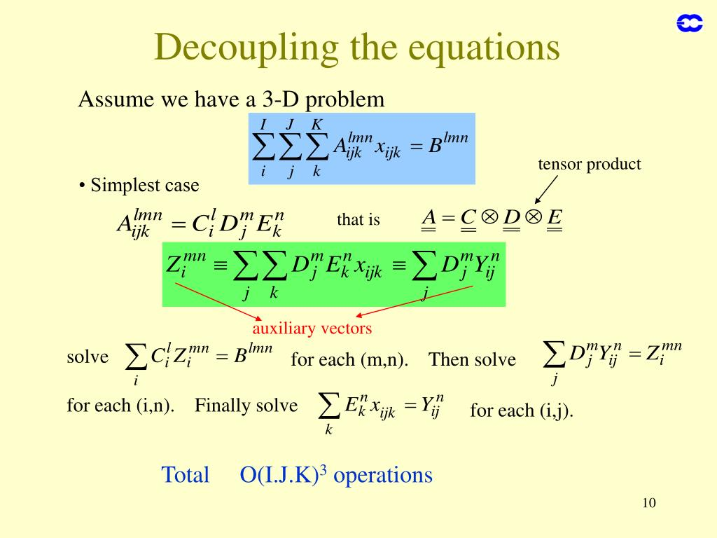 Decoupling the equations