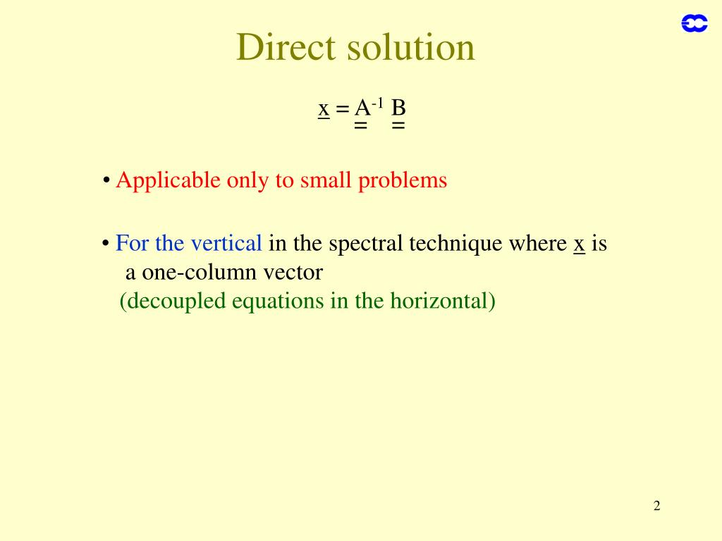 Direct solution