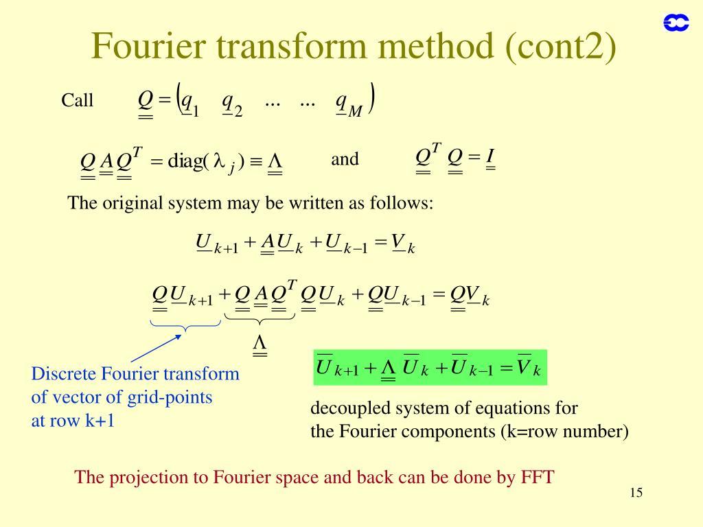 Fourier transform method (cont2)