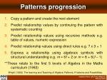 patterns progression