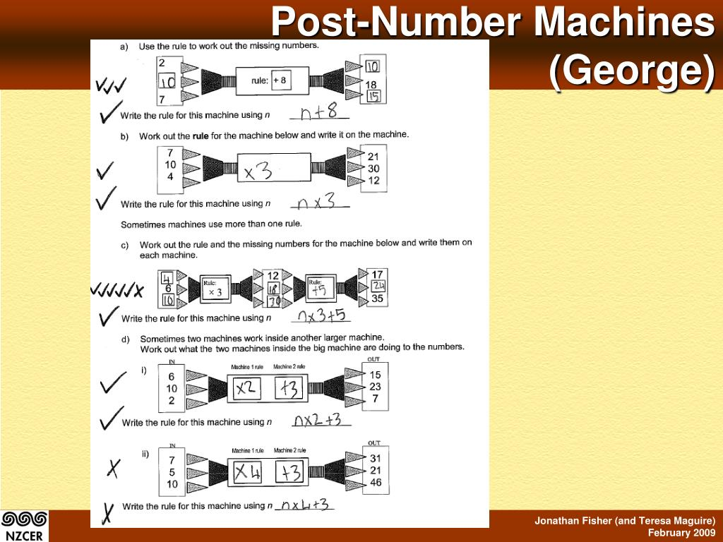 Post-Number Machines