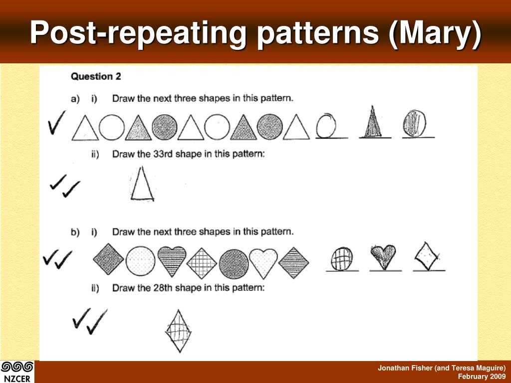 Post-repeating patterns (Mary)