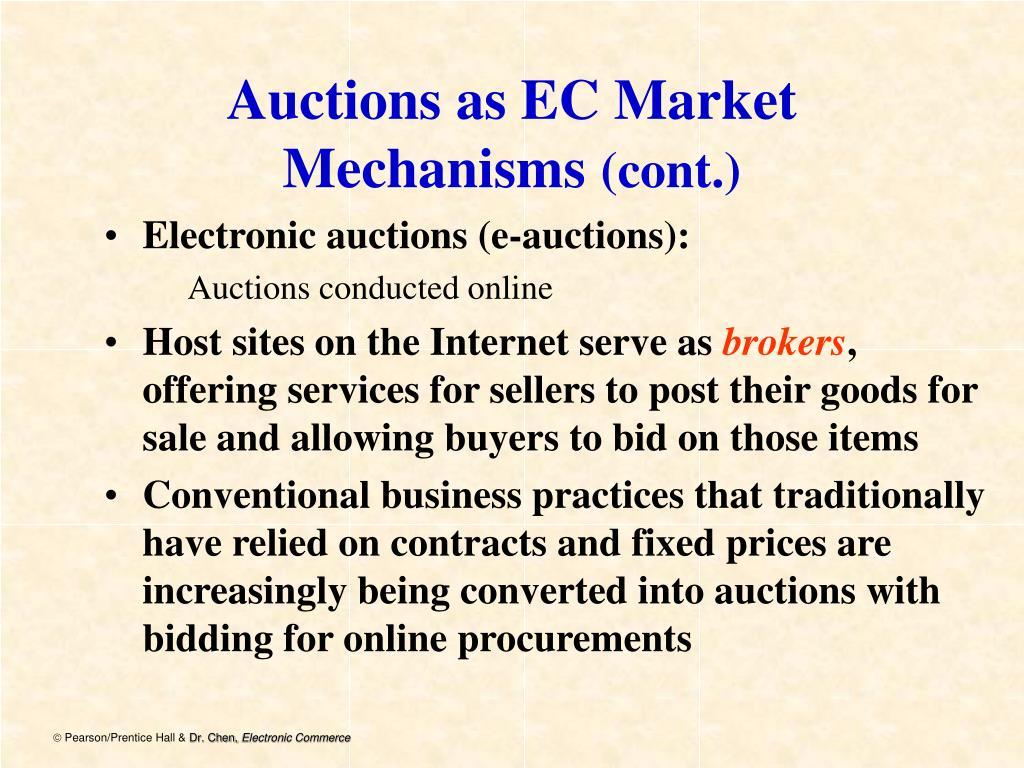 Auctions as EC Market Mechanisms