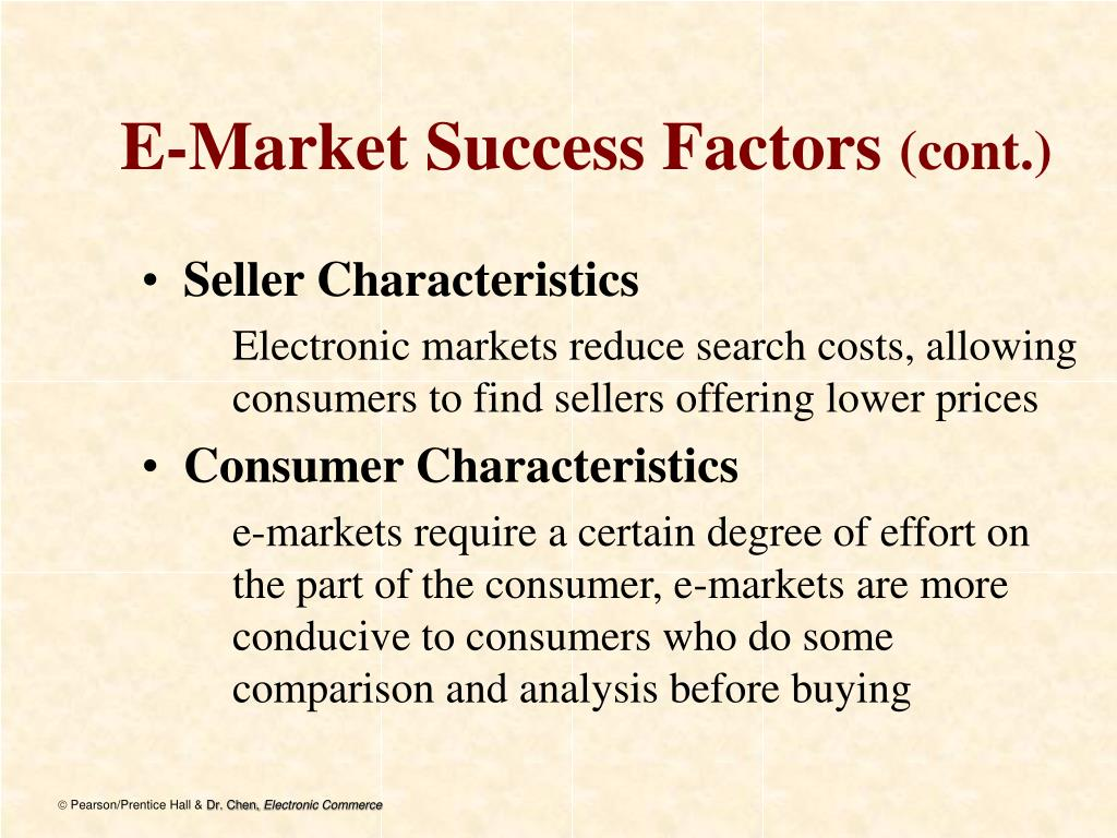 E-Market Success Factors
