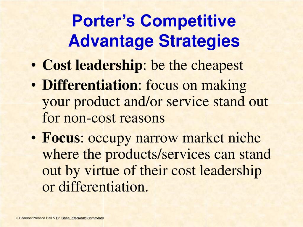 Porter's Competitive Advantage Strategies