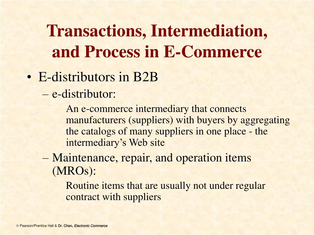 Transactions, Intermediation,