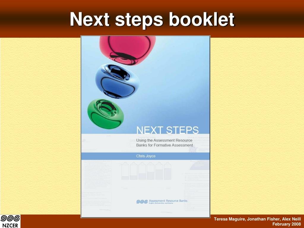 Next steps booklet