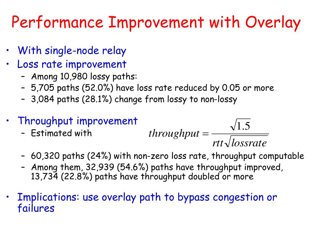 Performance Improvement with Overlay