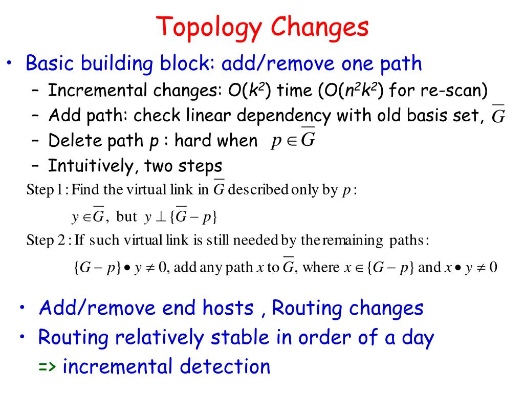 Topology Changes