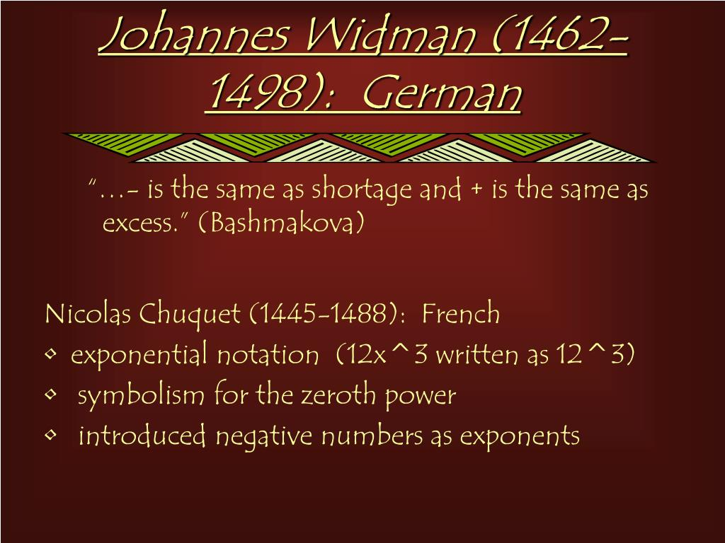 Johannes Widman (1462-1498):  German