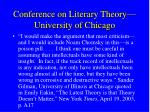 conference on literary theory university of chicago